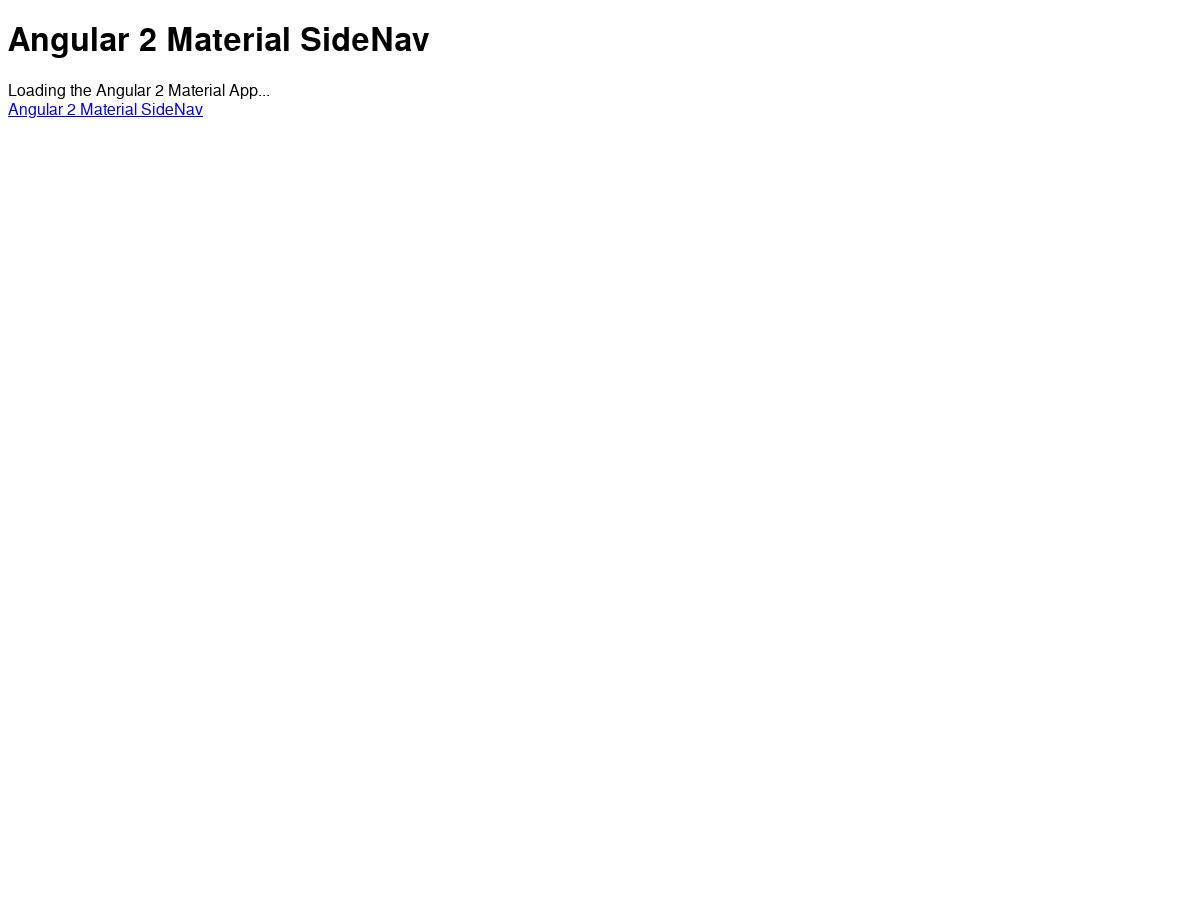 angular material sidenav example