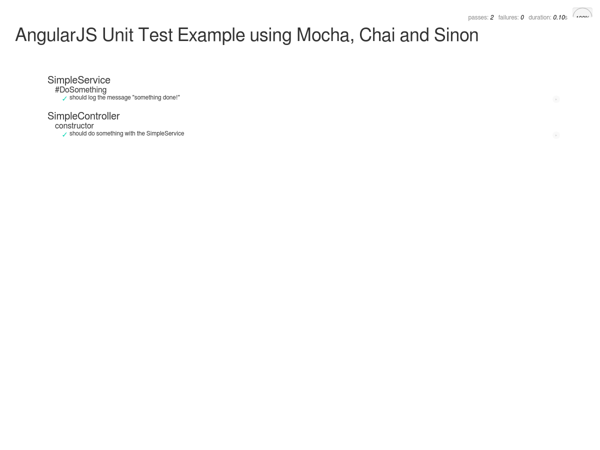 AngularJS Unit Testing Example using Mocha, Chai and Sinon