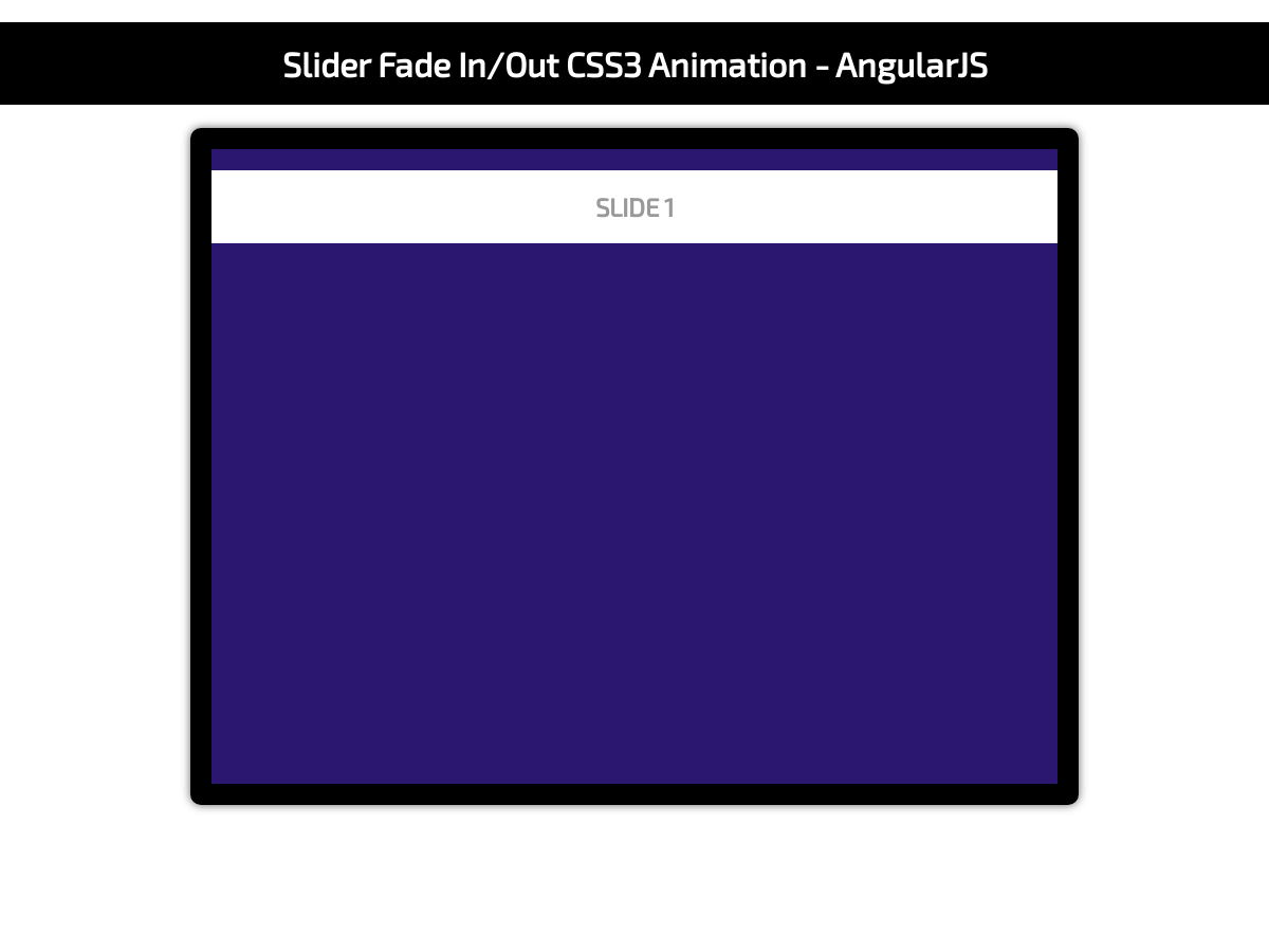 Touch slider carousel with fadeIn, fadeOut CSS3 effect - Plunker