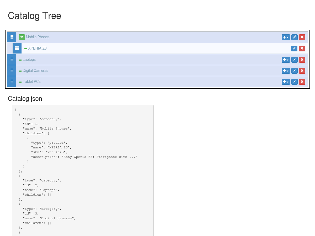 Nested angular-ui-tree with 2 types - Plunker