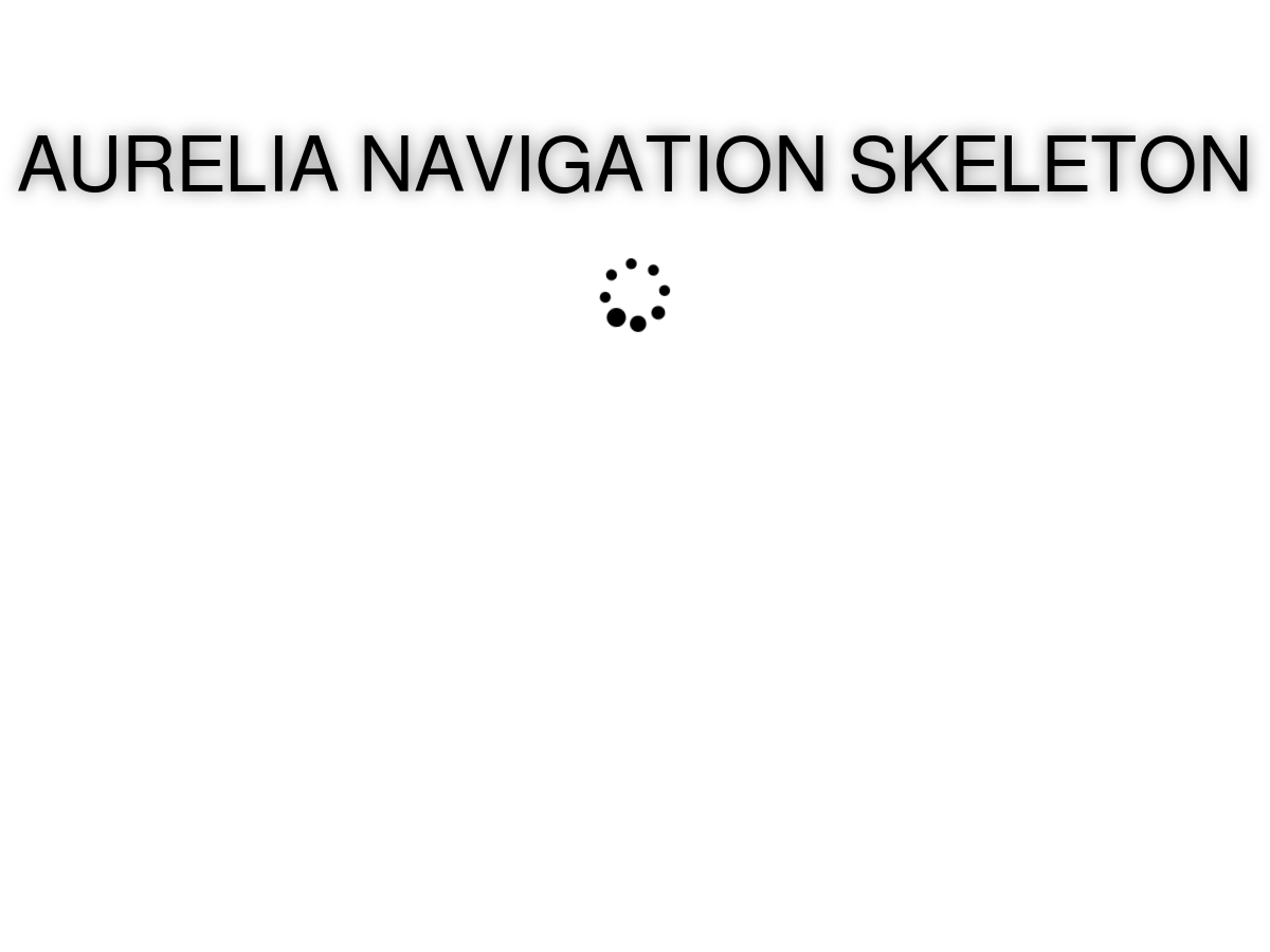 Aurelia Navigation Skeleton - Plunker