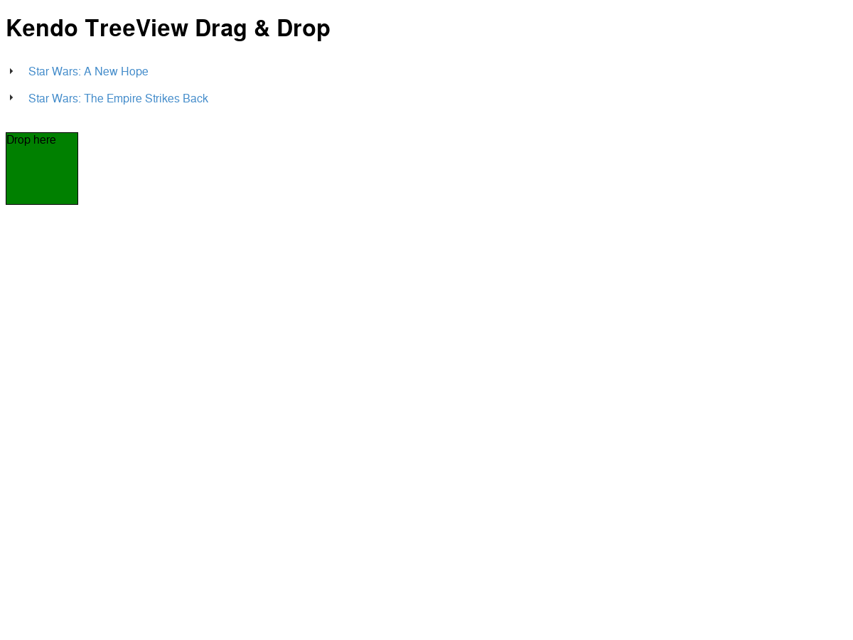 Kendo TreeView Drag & Drop 2 - Plunker