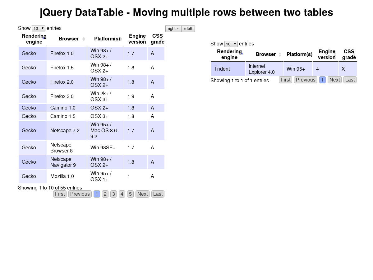 Jquery Datatable Button Click Event