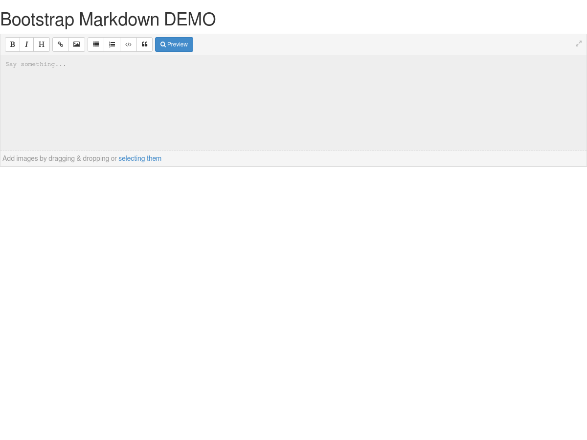Bootstrap Markdown DEMO - Plunker