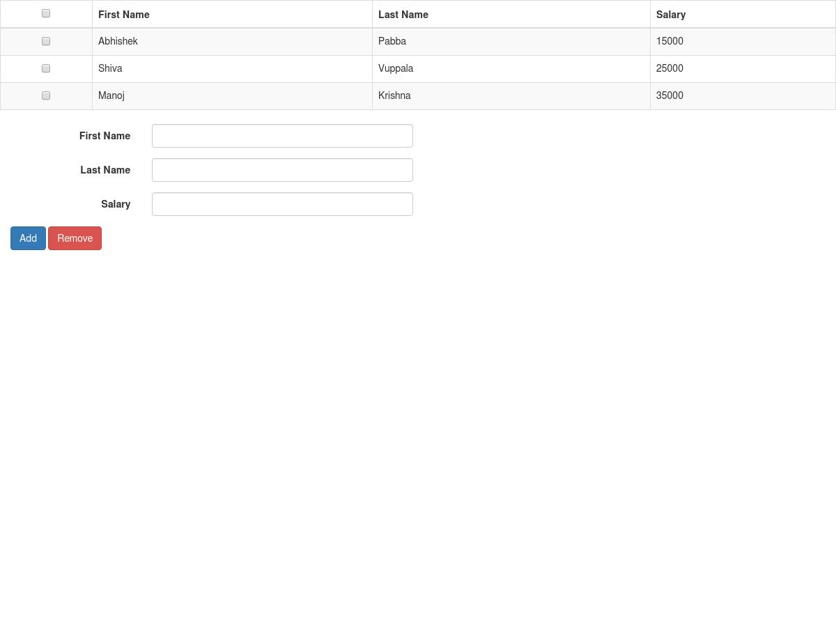 Add/Edit Update Table Rows Angularjs - Plunker
