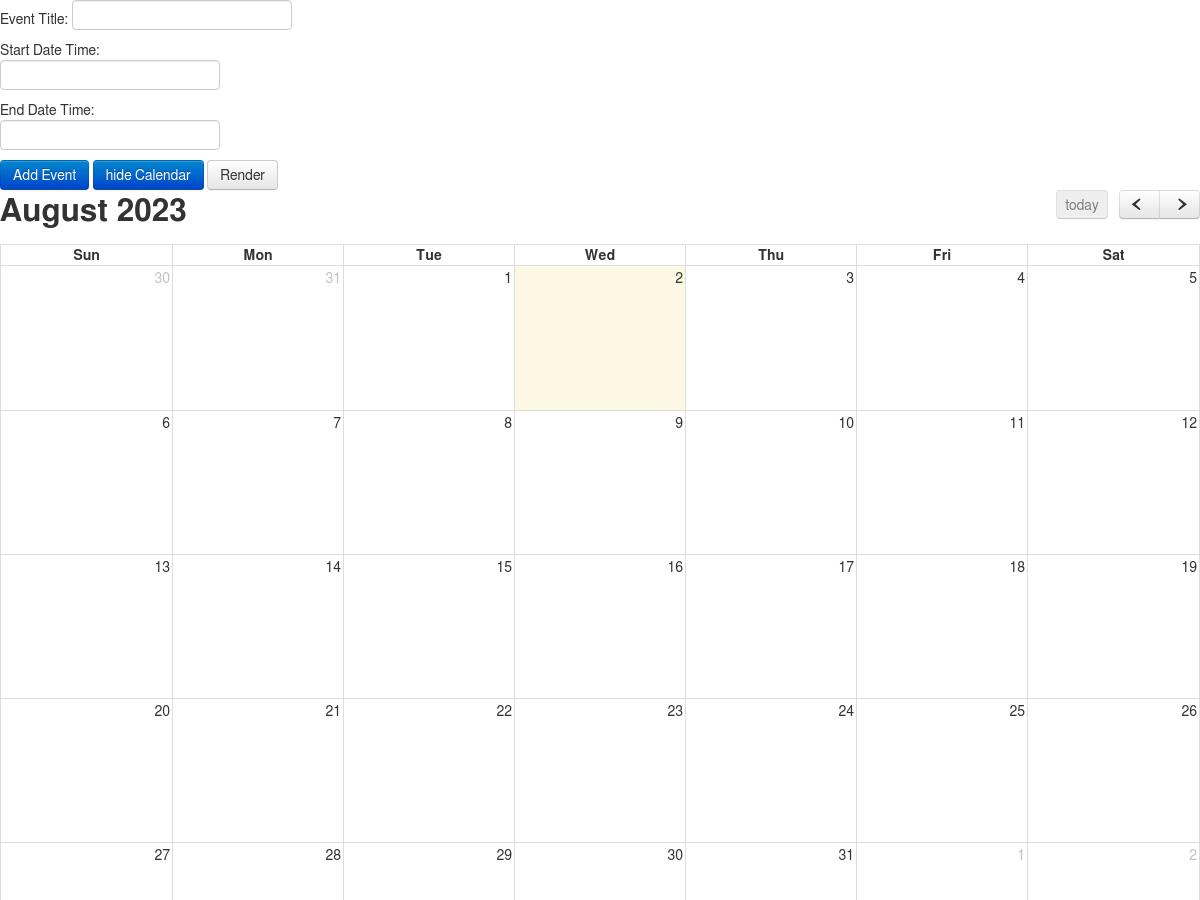 Angularjs Full Calendar Example - Plunker