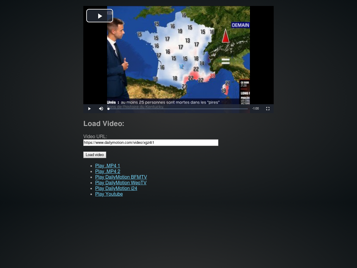 Dailymotion js for Video js - Plunker