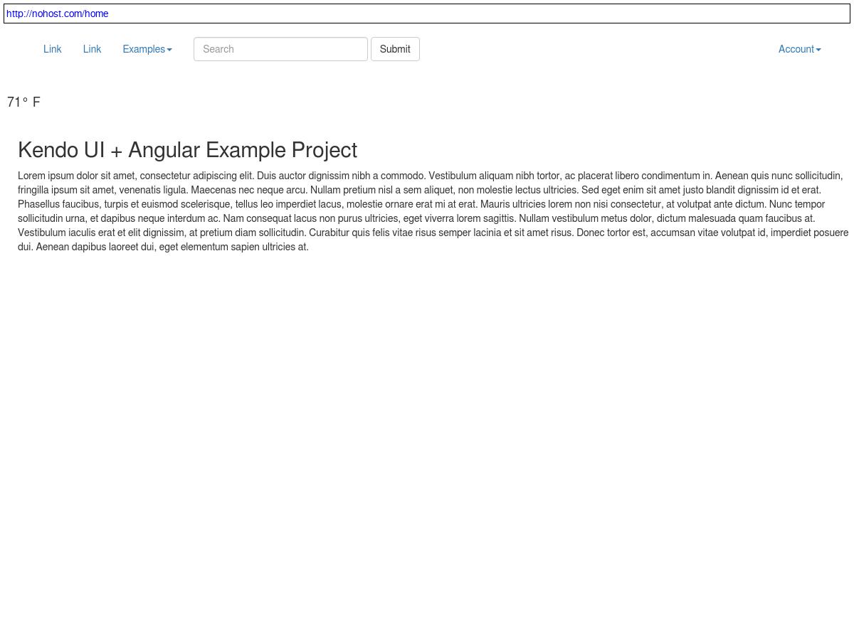 Kendo UI + Angular examples w/push update service - Plunker