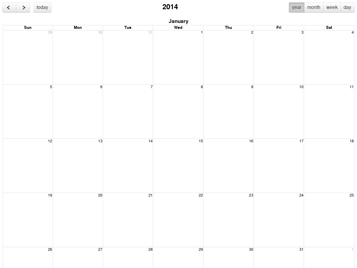 fullCalendar 2 2 7 with yearView - Plunker
